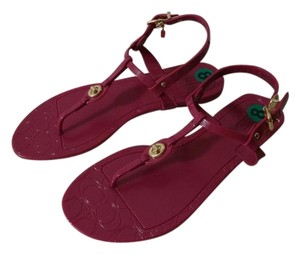 Coach Pier Shiny Pvc New In Box Fuchsia Pink Sandals