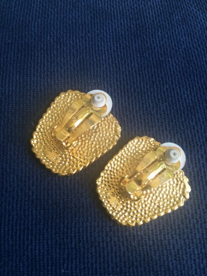 Other Black and Gold Tone Clip On Earrings Image 2