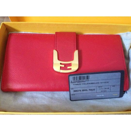 Fendi Authentic Fendi Chamaleon Biofold Leather Wallet