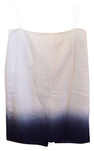 J.Crew Blue Slit Knee-length Skirt Ivory with navy ombre