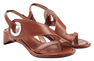 Maison Martin Margiela Runway Split Toe Thong Strap Brown Sandals