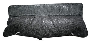 Lauren Merkin Sequin Evening Formal Black Clutch