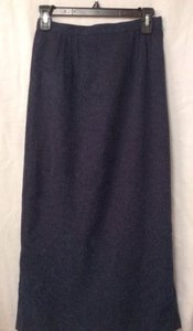 Christopher & Banks Navy Maxi Skirt Blue
