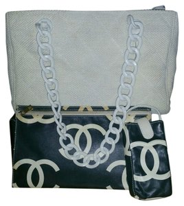 Chanel White Satchel Hobo Shoulder Bag