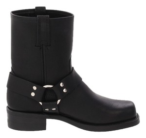 Frye Leather Harness Classic Black Boots