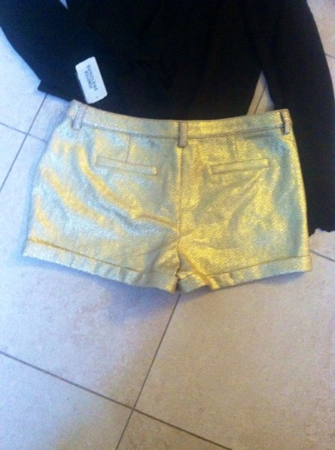 Forever 21 Shorts Metallic Gold