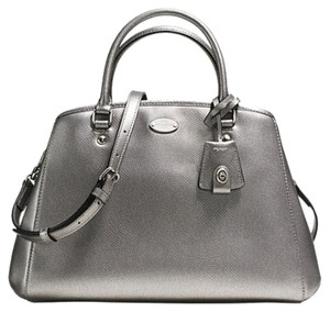 Coach F34607 Satchel in SILVER/PEWTER