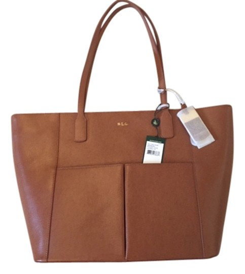 Preload https://item2.tradesy.com/images/ralph-lauren-newbury-pocket-and-chestnut-leather-tote-5865001-0-0.jpg?width=440&height=440