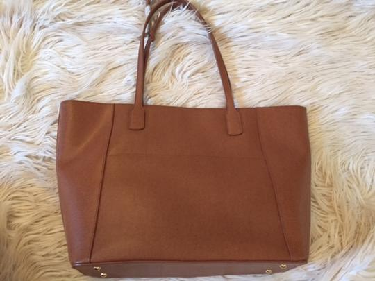 Ralph Lauren Newbury Tote in Lauren Tan and Chestnut