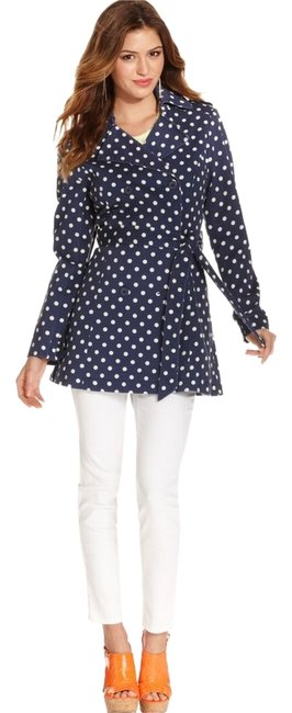 Preload https://item5.tradesy.com/images/jessica-simpson-polka-dot-trench-coat-size-6-s-5865124-0-2.jpg?width=400&height=650