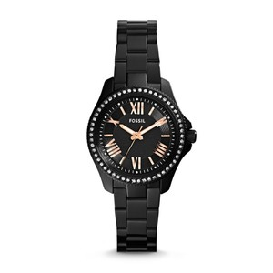 Fossil Fossil Mini Cecile AM4585 Black Stainless Steel Glitz Womens Watch