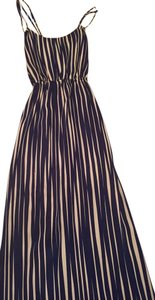 Navy and white Maxi Dress by Banana Republic Patio Maxi Summer Crisscross
