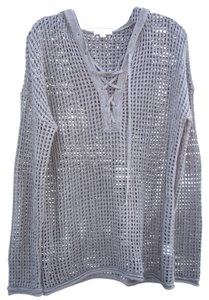 James Perse Crochet Hooded Sweater
