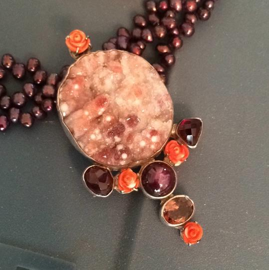 Echo of the Dreamer Stone/pearl Pendant Necklace