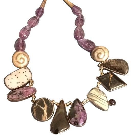 Echo of the Dreamet Amethyst/natural Stone Necklace Image 0