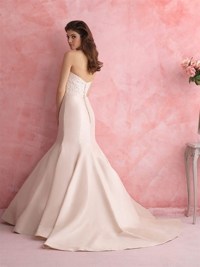 Allure Bridals Ivory Taffeta 2803 Sexy Wedding Dress Size 10 (M) Image 1