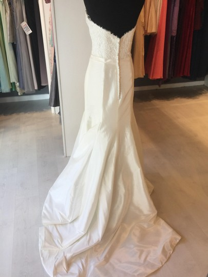 Allure Bridals Ivory Taffeta 2803 Sexy Wedding Dress Size 10 (M) Image 3