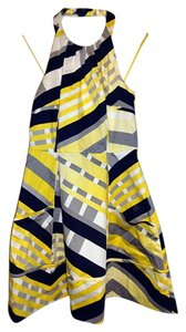 Jessica Simpson short dress Yellow and black Halter Cotton on Tradesy