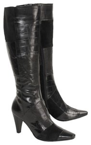 Bandolino Knee Leather Suede Chocolate Brown Boots