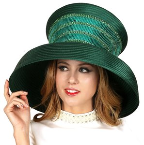 Other FASHIONISTA Shamrock Green Sequins Accent Easter Derby Dressy Hat