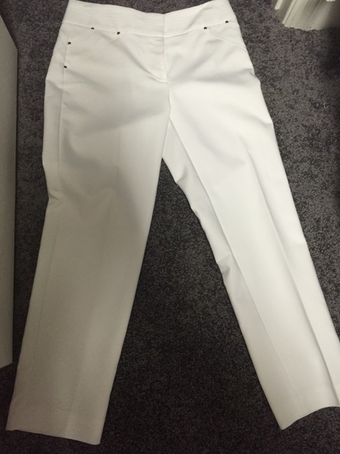 Cache Trousers Dress Straight Pants White