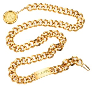 Chanel Chanel Gold CC Medallion Belt