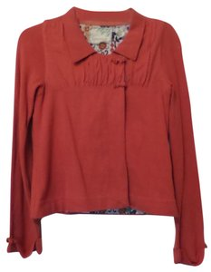 Anthropologie Swing Cotton Knit Coral Jacket