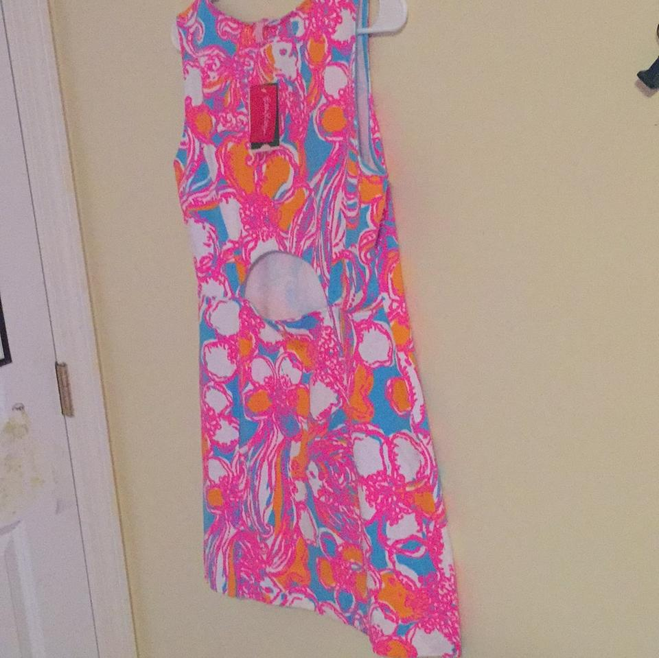 ea8d8488bc2636 Lilly Pulitzer Bright Blue Orange Pink and White
