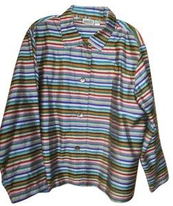 Chico's Button Down Shirt Rainbow