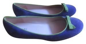 Marc Jacobs Velvet With Green Ribbon purple velvet Flats