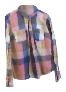 Gap Flannel Button Down Shirt multi-color plaid