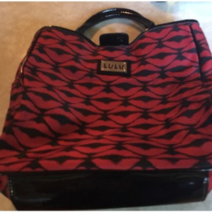 Lulu Guinness Satchel in Black/red