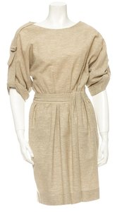 Lela Rose short dress Beige, Oatmeal on Tradesy