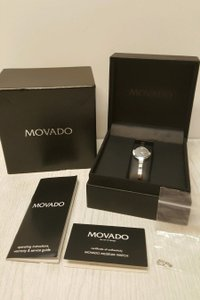 Movado Movado Bela Black Dial Stainless Steel Bangle Ladies Watch