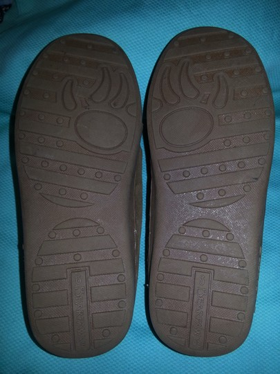 Bearpaw Moccasin Sheepskin Leather Suede brown Flats Image 2