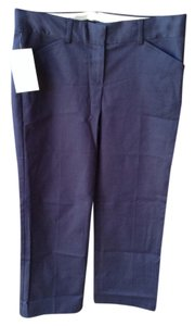 Theory Straight Pants Navy blue