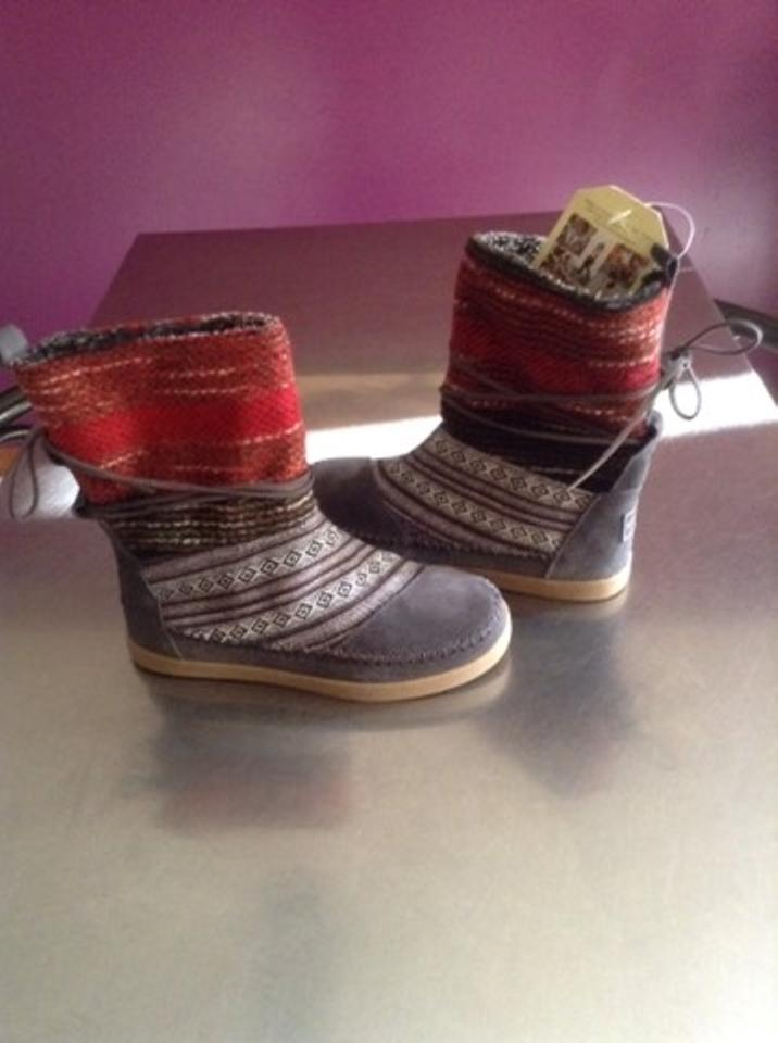 205acc5a9b2 TOMS Grey Nepal Woven Boots Booties Size US 5 Regular (M