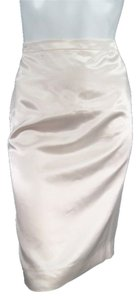 Lanvin Satin Pencil Skirt Cream