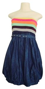 West 36 short dress Denim/Multi-colored Boutique Denim on Tradesy