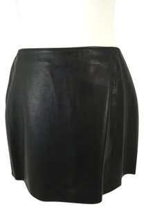 bebe Leather Mini Mini Skirt Black