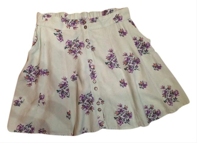 Kimchi Blue Urban Outfitters Mini Skirt Mint green floral