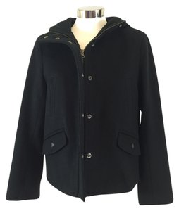 J.Crew Hooded Wool Pea Coat