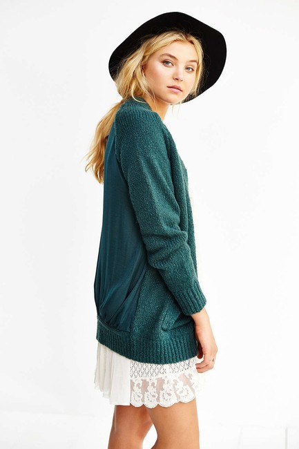 Urban Outfitters #sheerback #cardigan #woolblend #oversized #slouchy Cardigan