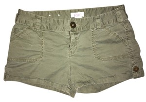 Candie's Size 5 Cuffed Kohls Mini/Short Shorts Forest Green