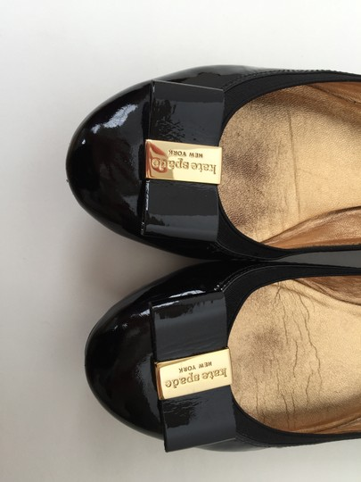 Kate Spade Work Patent Black Leather Flats