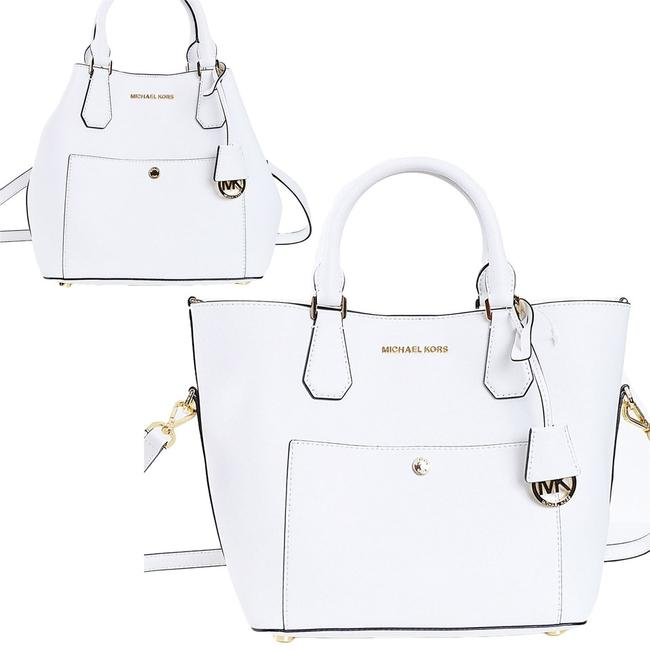 Item - Greenwich Large Grab A3696a Optic White Leather Tote