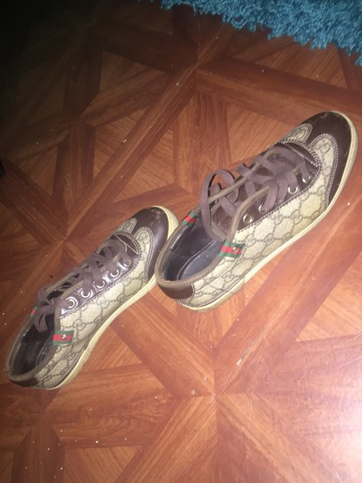 Gucci Bags Sneakers Sneakers Beidge Brown and Badge Flats