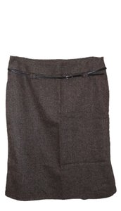 Zara Skirt Brown Tweed