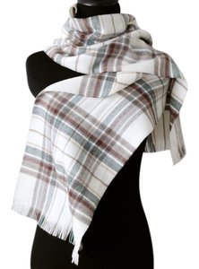 Barneys New York Plaid Winter Scarf Made in France