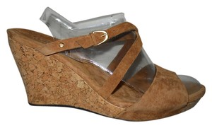 UGG Australia Leather Suede Wedge brown Sandals